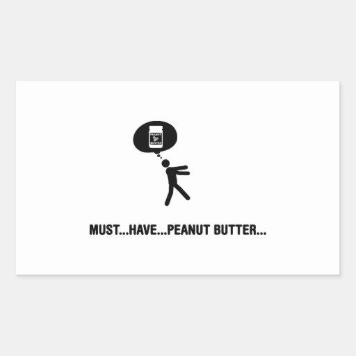 Peanut Butter Lover Rectangular Stickers