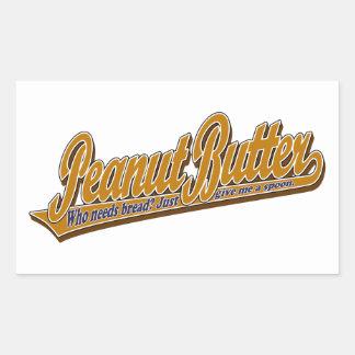 Peanut Butter Rectangular Stickers