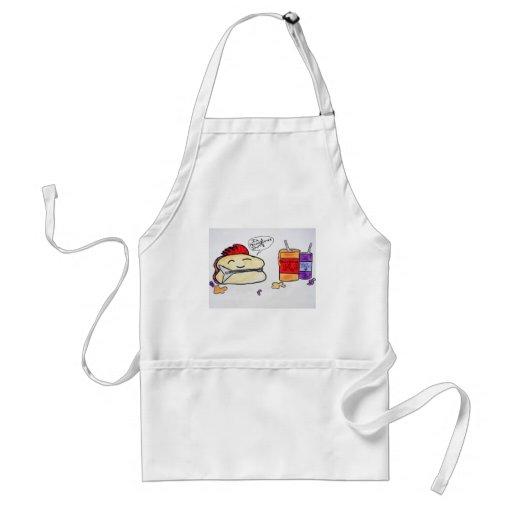 Peanut butter sandwich apron