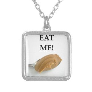 peanut butter square pendant necklace