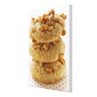 Peanut cookies in a pile canvas print