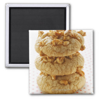 Peanut cookies in a pile magnet