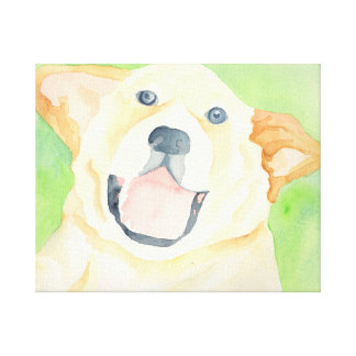 Peanut Cute Beagle Canvas Wrap Canvas Print