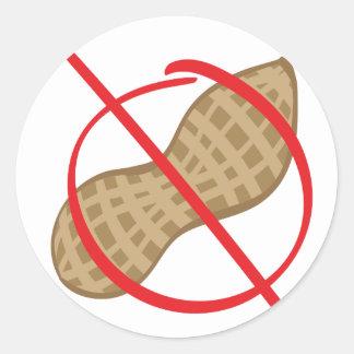 Peanut Free Classic Round Sticker