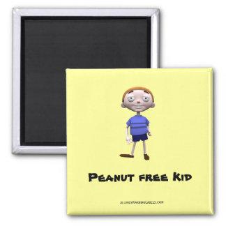 Peanut free Kid Square Magnet