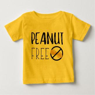 Peanut Free Symbol Peanut Allergy Alert Baby T-Shirt