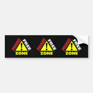Peanut Free Zone (Peanut Allergy) Bumper Sticker