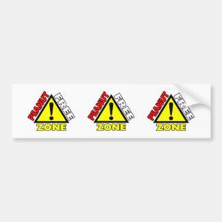 Peanut Free Zone (Peanut Allergy) Bumper Sticker