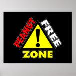 Peanut Free Zone (Peanut Allergy) Poster