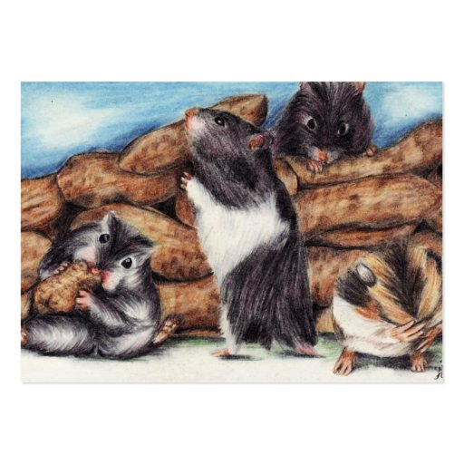 Peanut Masons (Hamster) ACEO Art Trading Cards Business Card Templates