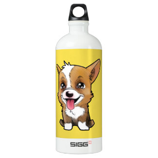 Peanut the corgi to water bottle Yellow SIGG Traveller 1.0L Water Bottle