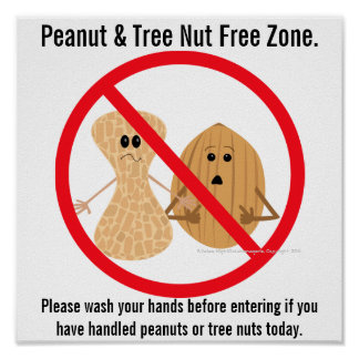 Peanut & Tree Nut Free Zone Food Allergy Print