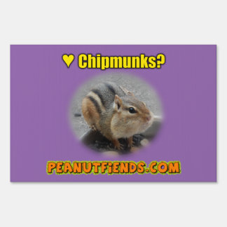 peanutfiends.com Yard Sign