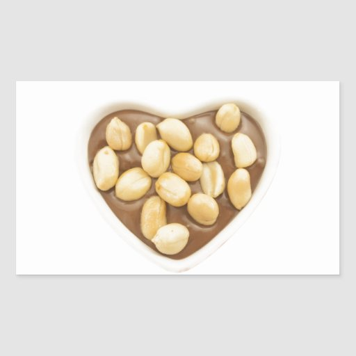 Peanuts on chocolate rectangular sticker