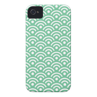 Peapod Green Seigaiha Pattern Iphone 4/4S Case