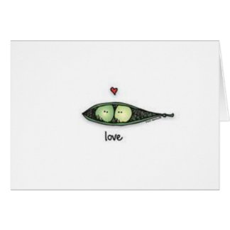 Peapod Love Card