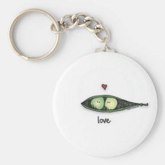 Peapod Love Keychain