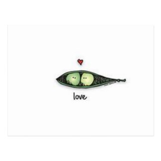 Peapod Love Postcard