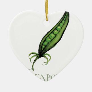 peapod, tony fernandes ceramic heart decoration