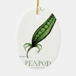 peapod, tony fernandes ceramic oval decoration