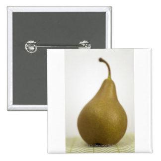 Pear 15 Cm Square Badge