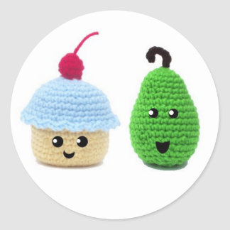 Pear and Cupcake Stickers