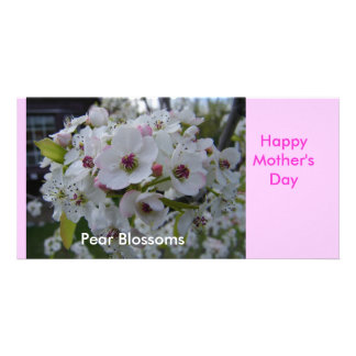 Pear Blossoms Happy Mother s Day Card Customized Photo Card