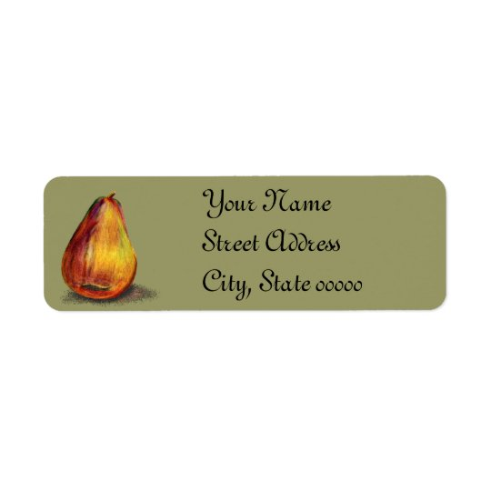 Pear Design Return Address Label