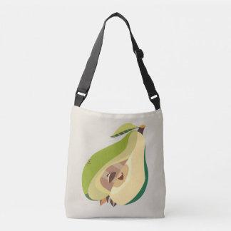 Pear fruit illustration crossbody bag