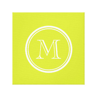 Pear High End Colored Monogram Initial Gallery Wrapped Canvas