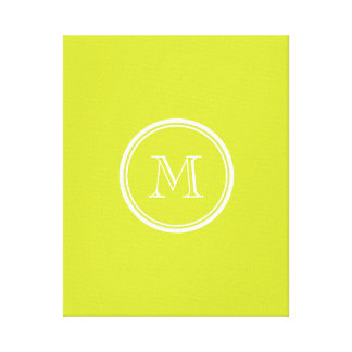 Pear High End Colored Monogram Initial Gallery Wrap Canvas
