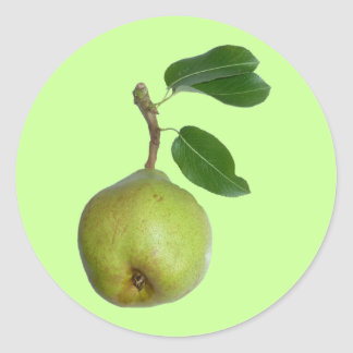 Pear - just the one classic round sticker