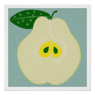 Pear, Kitchen Art, Food, Minimalist Poster