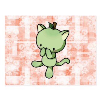 Pear Kitty Postcard