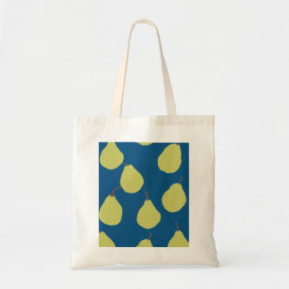 pear navy and green tote bags