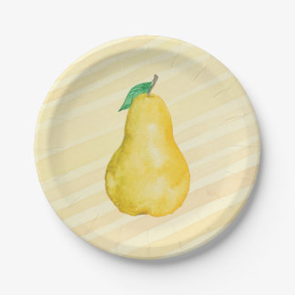 Pear Paper Plate