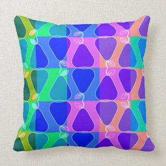 Pear pattern in blue cushion