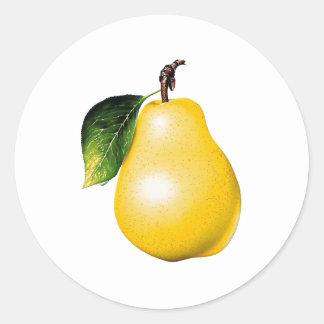 Pear Round Sticker