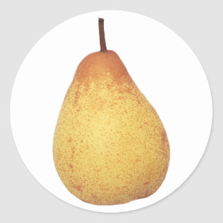 Pear Round Sticker