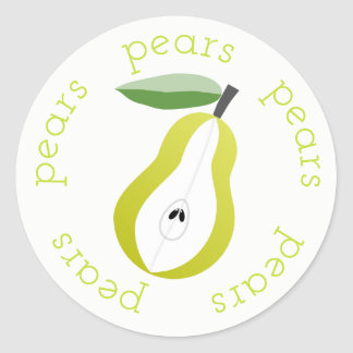 Pear Rounds Classic Round Sticker