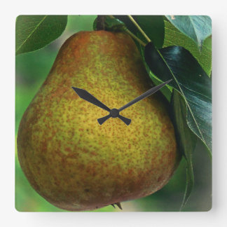 Pear Square Wall Clock