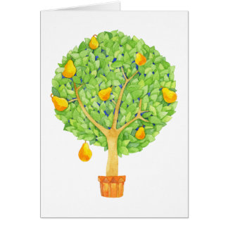 Pear Tree Blank Note Card
