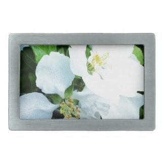 Pear tree flower rectangular belt buckle