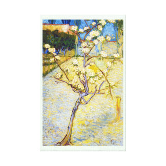 Pear Tree in Blossom Vincent van Gogh fine art Stretched Canvas Prints