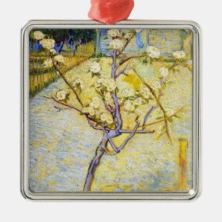 Pear Tree in Blossom Vincent van Gogh fine art Silver-Colored Square Decoration