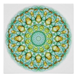 Pear Tree kaleidoscope Poster