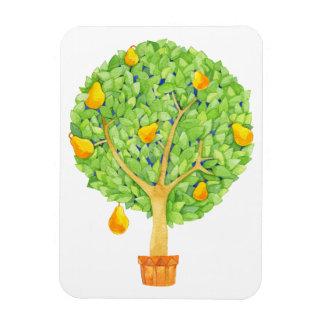 "Pear Tree Magnet 3""x4"""