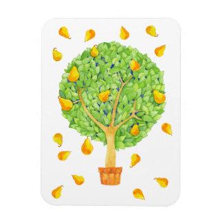 "Pear Tree Pears Magnet 3""x4"""