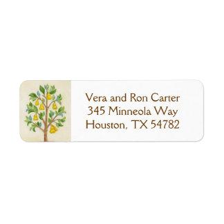 Pear Tree return address label