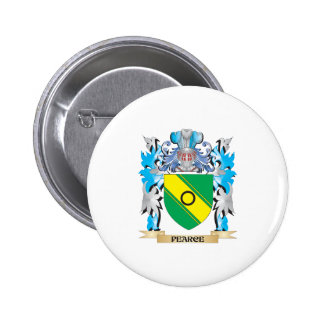 Pearce Coat of Arms - Family Crest Pinback Button